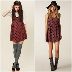 Free People  Molly Dot Swing Casual Dress